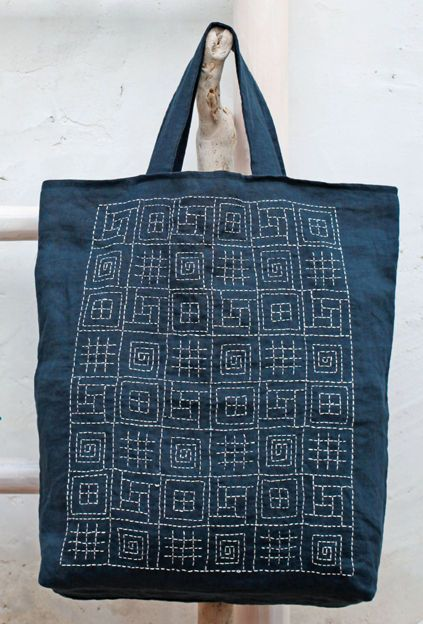 Such a fun way to practice Sashiko! Almost like a sampler.