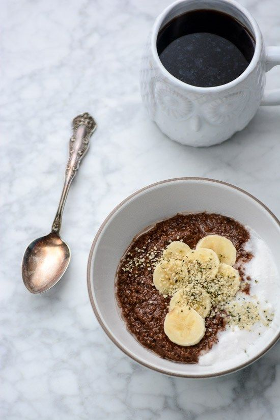 Grain-Free Nutella Porridge -  paleo, vegan and ready in less than 10 minutes.  Hazelnut meal and hemp seeds form the base of this delicious chocolate porridge. www.scalingbackblog.com