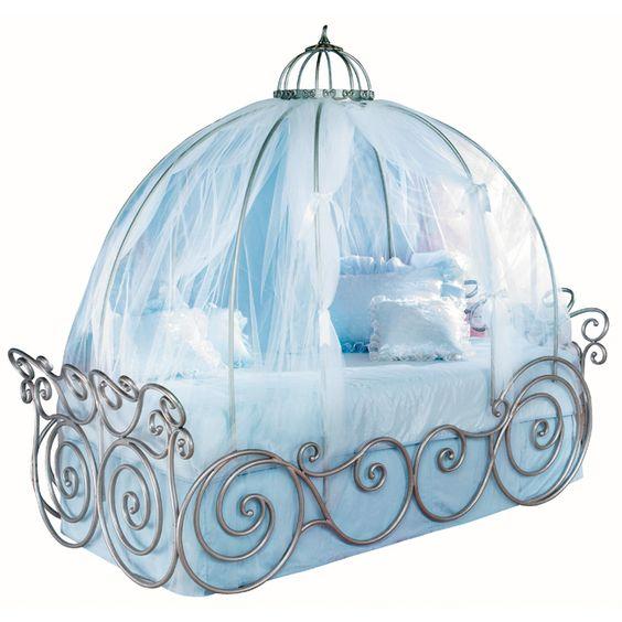 Disney Princess 7 Piece Full Carriage Bed Bedroom Set Disney=OMG!!