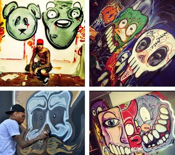 Chris brown and his art collection