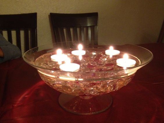 Jasmine dinner and floating candles on pinterest
