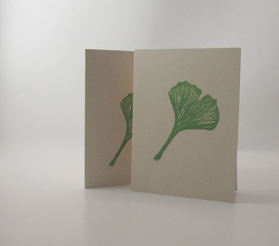 Any occasion Ginkgo leaf card set by PascalesStudio on Etsy, $7.00