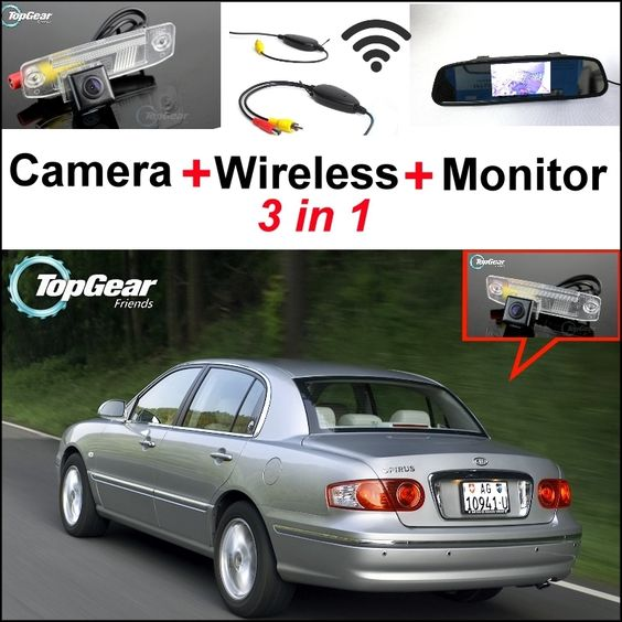 77.13$  Watch here - http://alic9z.worldwells.pw/go.php?t=32469029698 - 3 in1 Special Camera + Wireless Receiver + Mirror Monitor Easy DIY Back Up Parking System For KIA Opirus Amanti 2002~2011