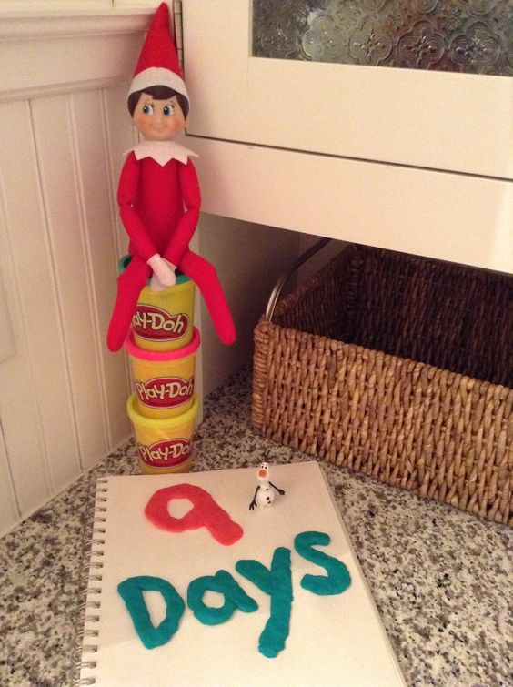 Fun with our elf, Chippy.