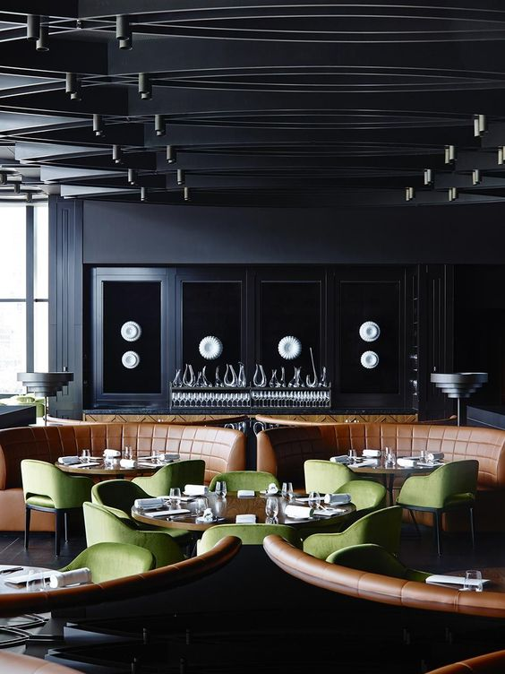 Dinner by Heston Blumenthal / Bates Smart looks like a snazzy restaurant to eat at plus it was voted one of the best in London!