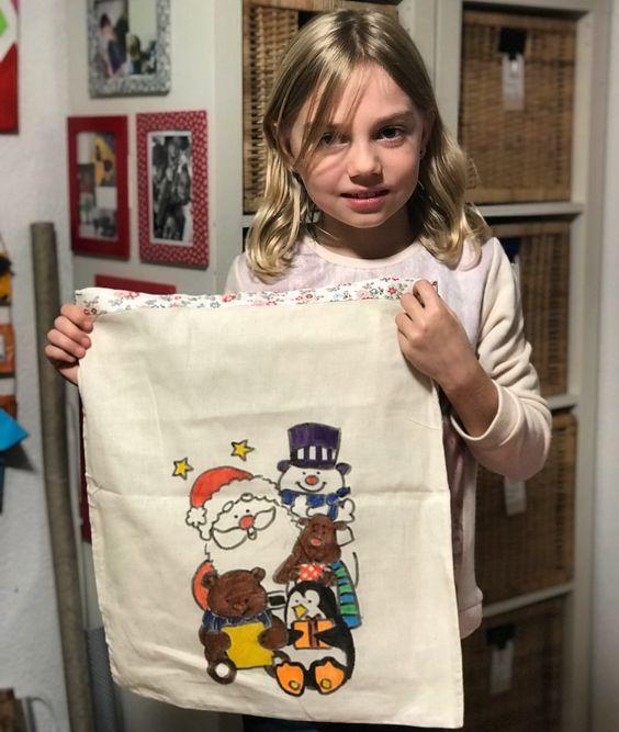 Sac en tissu pour le cadeau de Noël