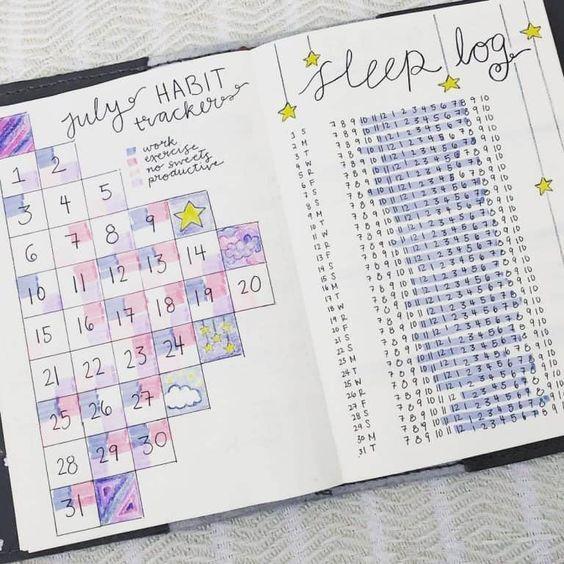 sleep tracker for bullet journal