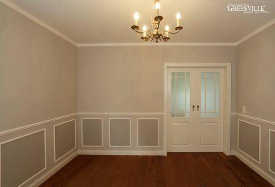 Good Hier kann man sich schon gut vorstellen wie das Esszimmer sp ter einmal aussehen wird Boden und T ren Pinterest Esszimmer Holzh uschen und T ren