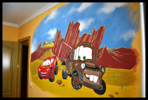 Otra pared realizada para una habitación infantil! Esperemos que crezca con ella y le ayude a desarrollar su imaginación!