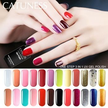 Catuness Nail Polish Gel Paint Does Not Need Base Coat One Uv Clear Varnish 3 In 1 Nai Gel Manicure Step Gel Polish Oil Gel Manicure Nail Polish Manicure Steps