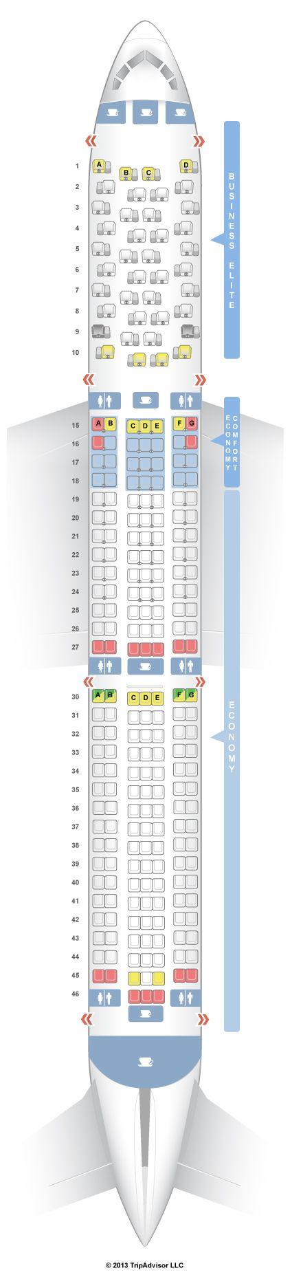 SeatGuru Seat Map Delta Boeing 767-400ER (76D) - SeatGuru
