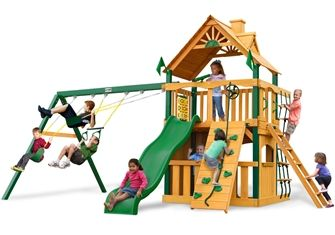 Chateau Clubhouse Childs Wood Swing Set