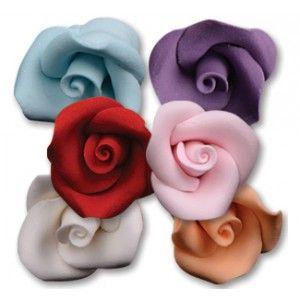"""NY Cake Icing Roses - Blue - ¾"""" - 12 pcs Golda's Kitchen"""