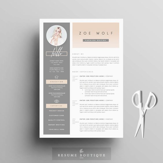 Pink Creative Resume Template  Cv Template  Cover Letter