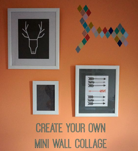How to create a  mini wall gallery or collage with a Scandinavian theme.