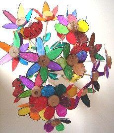 fleurs en volume coll es sur des bouchons de li ge diy pour enfants pinterest art de photo. Black Bedroom Furniture Sets. Home Design Ideas