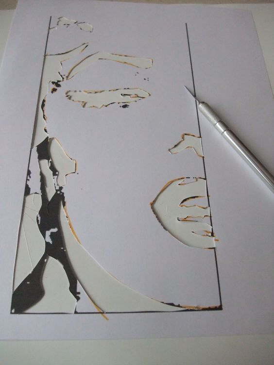 How to make a stencil out of a picture Stencil Art Pinterest