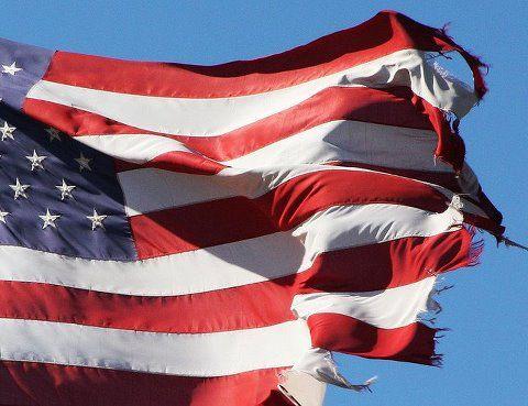 old ragged flag