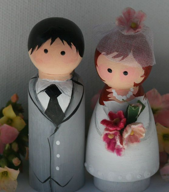 #DIY Wedding Idea | #DIY Cake Toppers | Supplies available at Joann.com or your local Jo-Ann Fabric and Craft Store