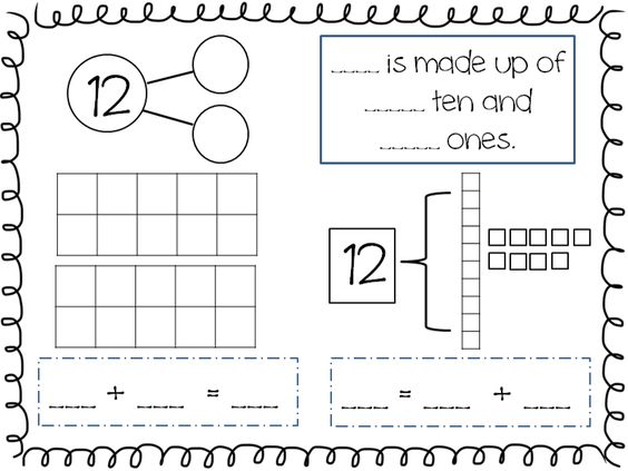 Compose and Decompose Numbers 11-19 FREEBIE : Kindergarten Math : Pinterest : Math, Posts and ...