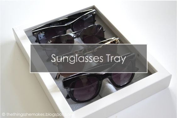 How To Make a Sunglasses Storage Tray