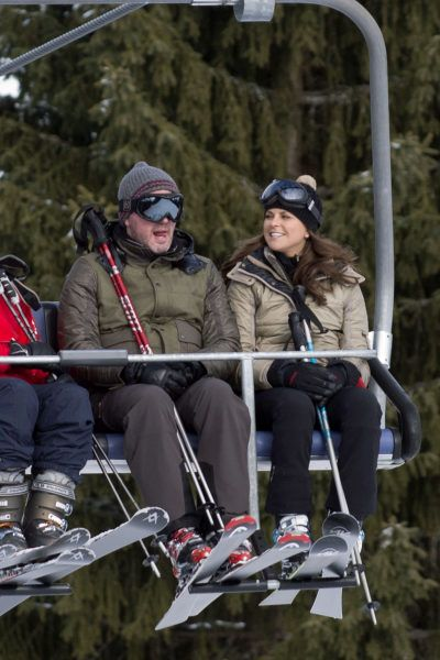 Princes Madeleine from Sweden skiing in Switzerland