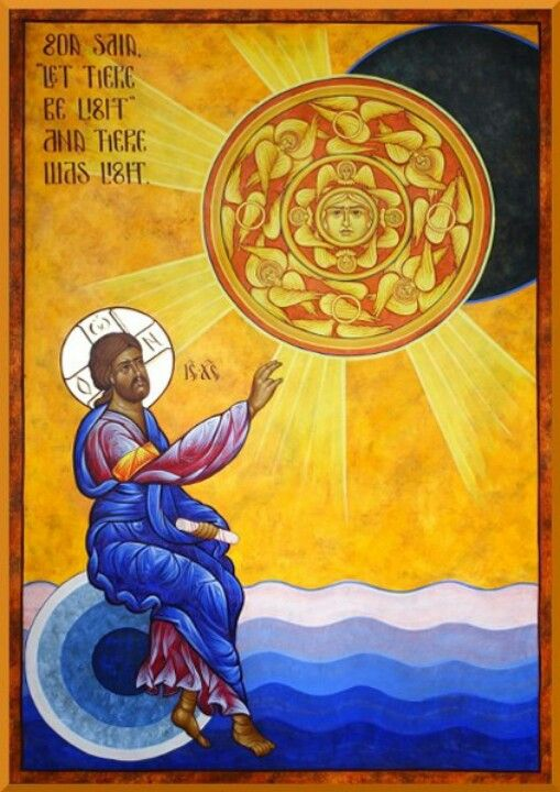 Creation of the sun: