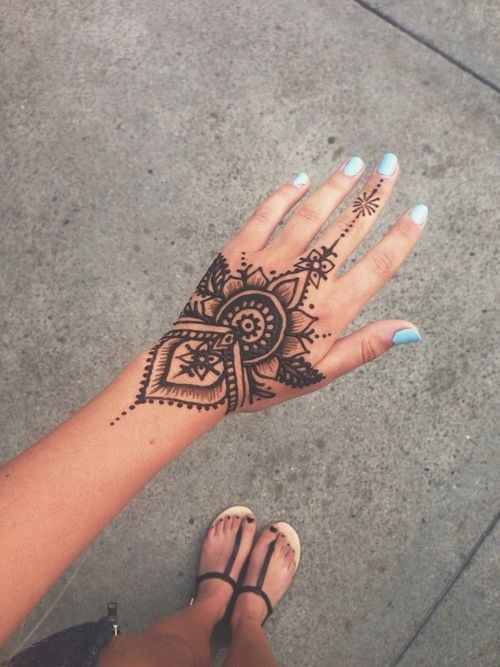 Black Henna Tattoo Tumblr: Japanese Tattoo Designs, Flower Skull And Tattoo Hand On