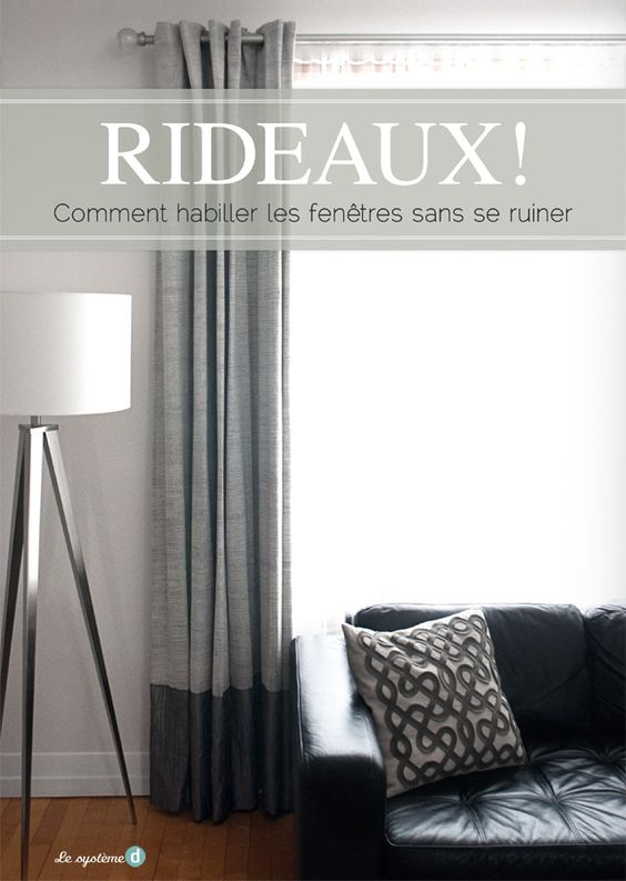 comment habiller une fen tre sans se ruiner sonia roy deco rideaux paris pinterest dyes. Black Bedroom Furniture Sets. Home Design Ideas