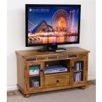 $570.00  Sunny Designs - Sedona Oak TV Console with Game Drawer and Doors - 3359RO-G