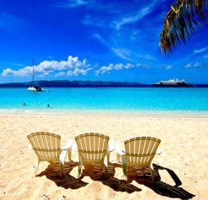 beach chairs in the british virgin islands
