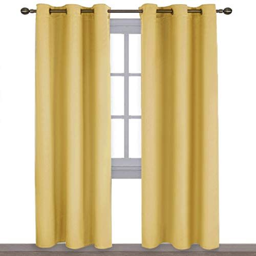 Yellow Blackout Curtains 96 Inches Long