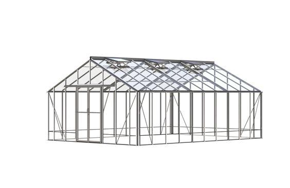Robinsons Renown 14' x 31' plain aluminium greenhouse.£7296.00