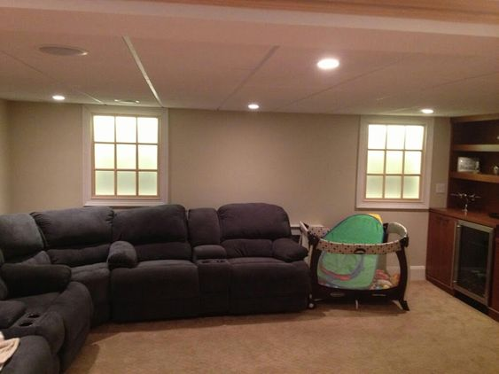 Faux windows with backlight for basement: Guest Room, Faux Windows Basement, Basement Windows Ideas, Basement Window Ideas, Faux Basement Windows, Living Room, Basement Window Well