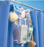 Love this hanging shower caddy for dorm room living!