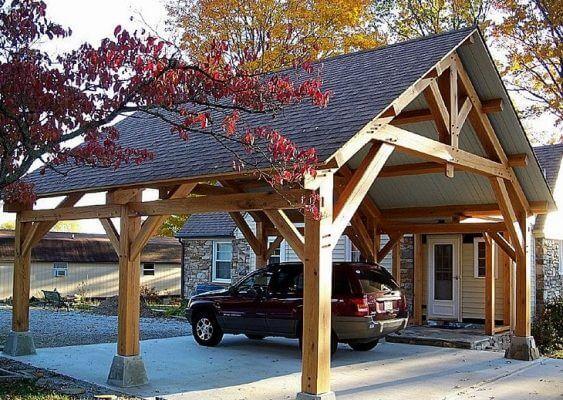 Carport Ideas To Consider While Choosing Design Topsdecor Com In 2020 Carport Designs Timber Framing House Exterior