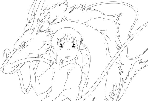 Spirited Away Coloring Pages Multicultural Club Pinterest Stitch Spirited Away Coloring Pages