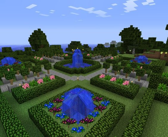 Gardens and minecraft on pinterest for Garden designs minecraft