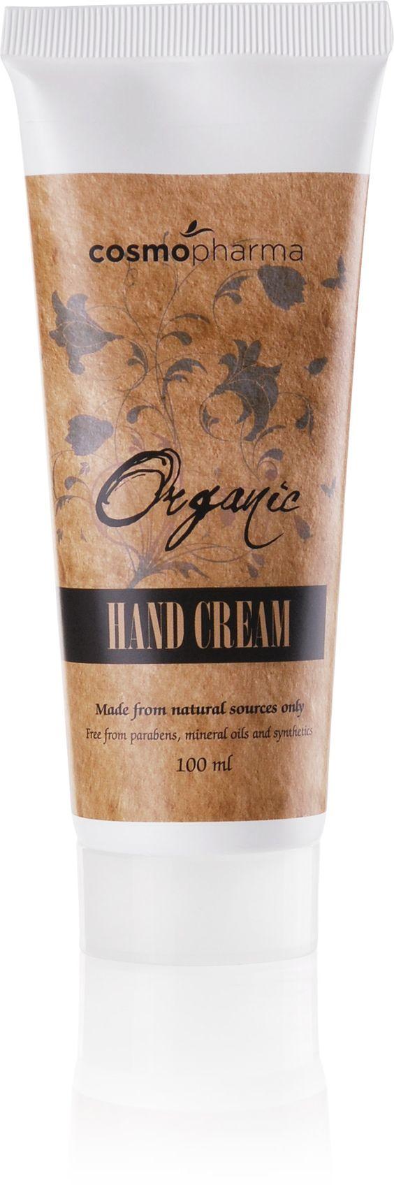 Organic Hand Cream. 100 ml   Cosmopharma konsulent Johansen Karine #handcream #cosmopharma #organic #tørrehender