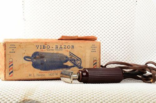 """Vintage Safety Razor. """"""""Vibo-Razor"""""""" Electric Vibrating DE Safety Razor In Original Box"""