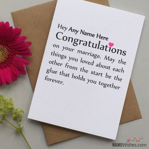 Wish Your Friends On Their Wedding In A New Way Write Name Of Your Friend On The Wedding Wishes Messages Wedding Wishes For Friend Wedding Anniversary Wishes