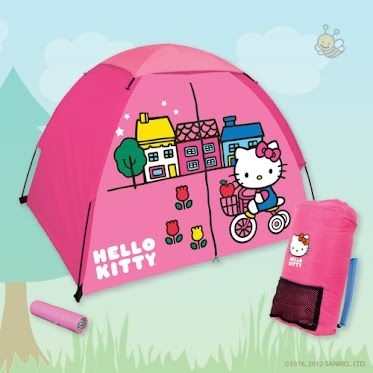 What's more fun than camping? Camping with Hello Kitty of course ;)