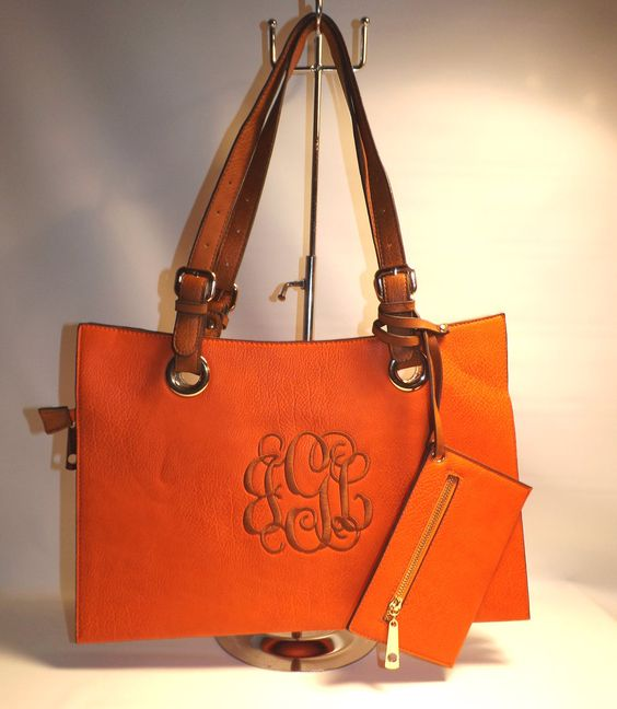 Monogramming By Sherri - Orange Soft Purse, $54.99 (http://www.monogrammingbysherri.com/orange-soft-purse/)