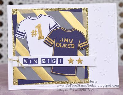 Did You Stamp Today?: Let's Go Dukes!! - Stampin' Up! Custom Tee - Fab Friday 103: