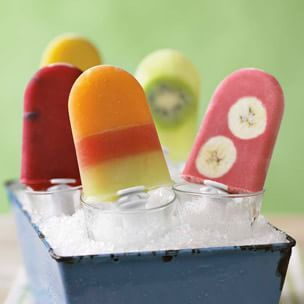 cranberry, raspberry and blueberry ice pops