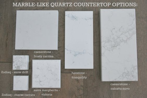 Quartz Countertop Options : marble lookalike quartz countertop options via the sweetest digs