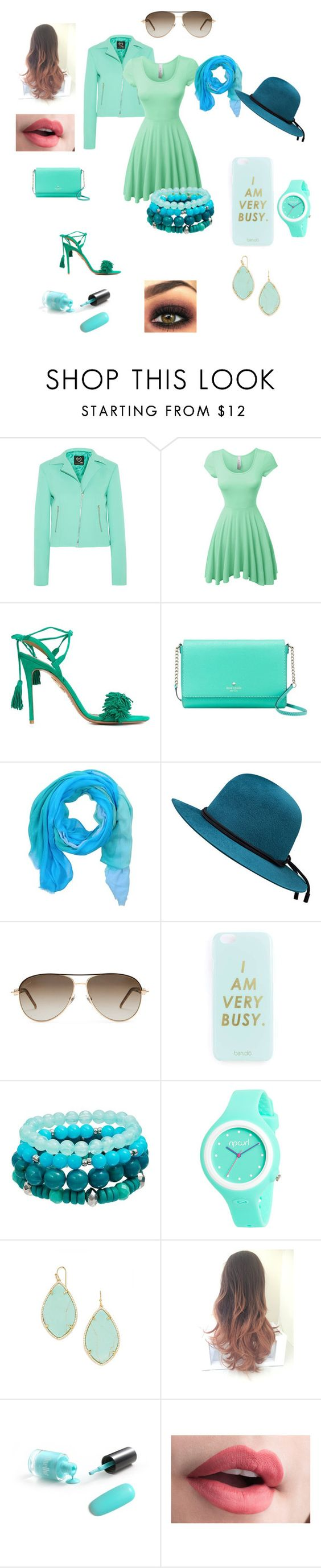 """""""В кафе"""" by tsoivictoria ❤ liked on Polyvore featuring McQ by Alexander McQueen, LE3NO, Aquazzura, Kate Spade, GUESS, Gucci, Miss Selfridge, Rip Curl and BaubleBar"""