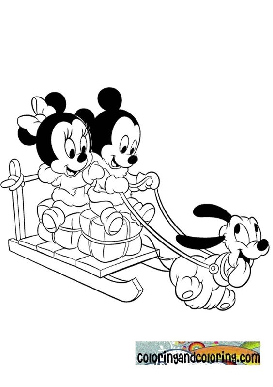 mickey mouse christmas coloring pages babies minniey