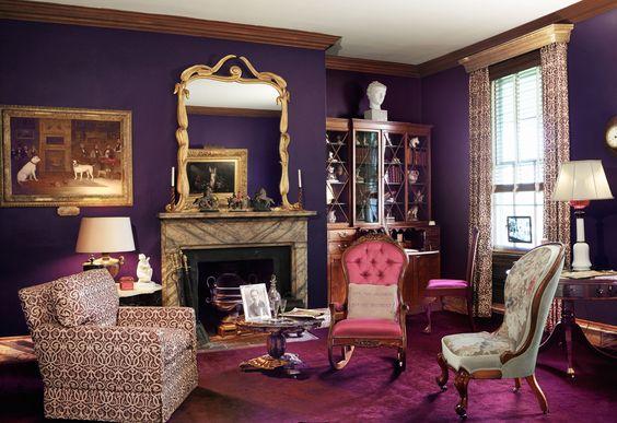 Billy Baldwin designed sitting room for Harvey Ladew, 1940