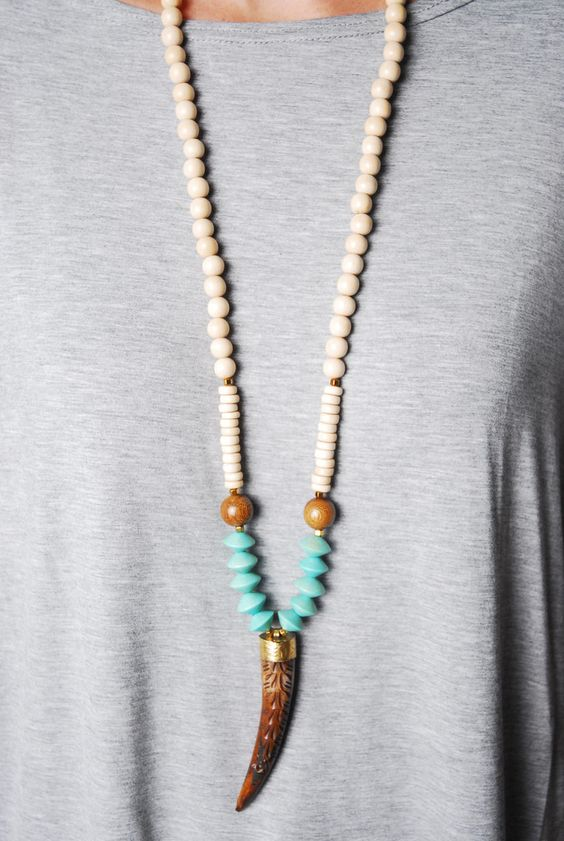 Carved Tooth Necklace $64 www.cheekypeachathens.com
